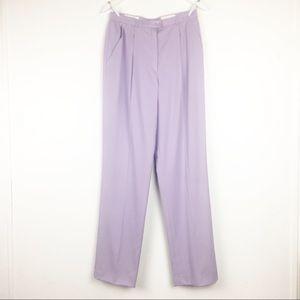 Escada Women's Size 38 Purple Pleated Wool Pants